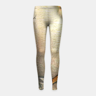 Thumbnail image of Wild Animals Girl's Leggings, Live Heroes