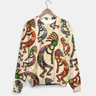 Thumbnail image of Kokopelli Tribal Pattern  Sweater, Live Heroes