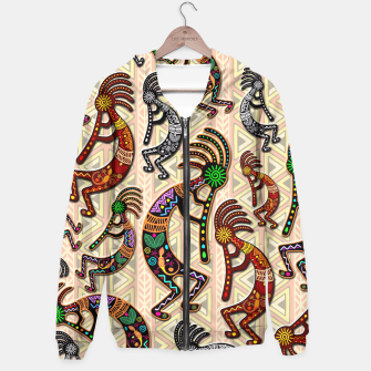 Thumbnail image of Kokopelli Tribal Pattern  Hoodie, Live Heroes