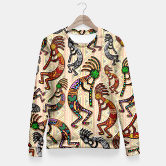 Thumbnail image of Kokopelli Tribal Pattern  Fitted Waist Sweater, Live Heroes