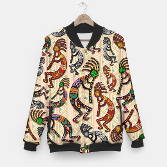 Thumbnail image of Kokopelli Tribal Pattern  Baseball Jacket, Live Heroes