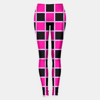 Thumbnail image of Black and pink Checkerboard Leggings, Live Heroes