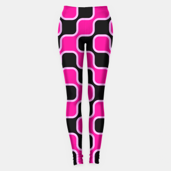 Thumbnail image of Black and pink  geometric abstract Leggings, Live Heroes