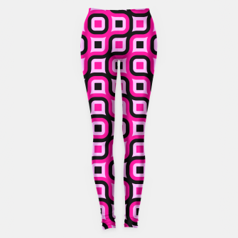 Thumbnail image of pink and black geometric abstract Leggings, Live Heroes