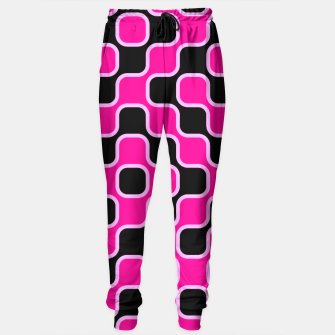 Thumbnail image of Black and pink  geometric abstract Sweatpants, Live Heroes