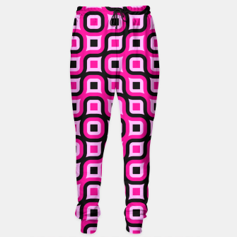 Thumbnail image of pink and black geometric abstract Sweatpants, Live Heroes