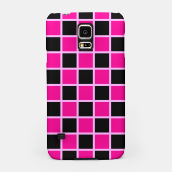 Thumbnail image of Black and pink Checkerboard Samsung Case, Live Heroes