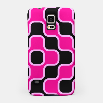 Thumbnail image of Black and pink  geometric abstract Samsung Case, Live Heroes