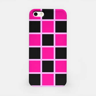 Thumbnail image of Black and pink Checkerboard iPhone Case, Live Heroes