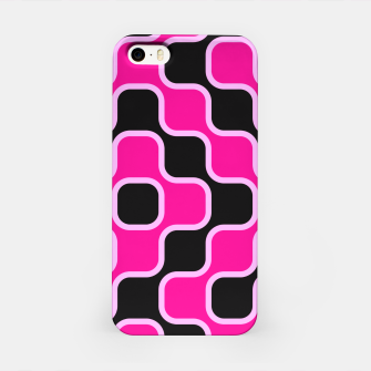 Thumbnail image of Black and pink  geometric abstract iPhone Case, Live Heroes