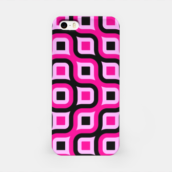 Thumbnail image of pink and black geometric abstract iPhone Case, Live Heroes