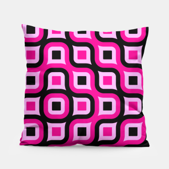 Thumbnail image of pink and black geometric abstract Pillow, Live Heroes
