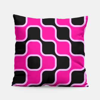 Thumbnail image of Black and pink  geometric abstract Pillow, Live Heroes