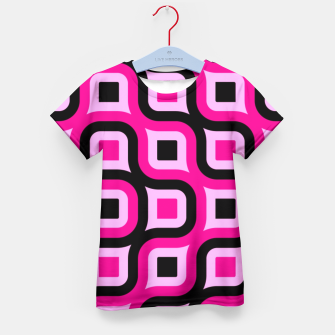Thumbnail image of pink and black geometric abstract Kid's T-shirt, Live Heroes