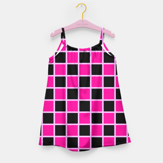 Thumbnail image of Black and pink Checkerboard Girl's Dress, Live Heroes