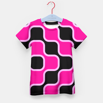 Thumbnail image of Black and pink  geometric abstract Kid's T-shirt, Live Heroes