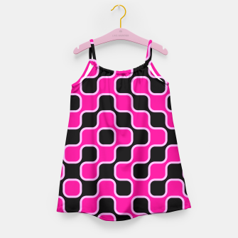 Thumbnail image of Black and pink  geometric abstract Girl's Dress, Live Heroes
