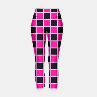 Thumbnail image of Black and pink Checkerboard Yoga Pants, Live Heroes