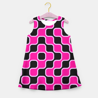 Thumbnail image of Black and pink  geometric abstract Girl's Summer Dress, Live Heroes
