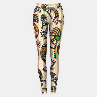 Thumbnail image of Kokopelli Tribal Pattern  Leggings, Live Heroes