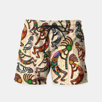 Thumbnail image of Kokopelli Tribal Pattern  Swim Shorts, Live Heroes