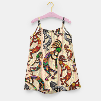 Thumbnail image of Kokopelli Tribal Pattern  Girl's Dress, Live Heroes
