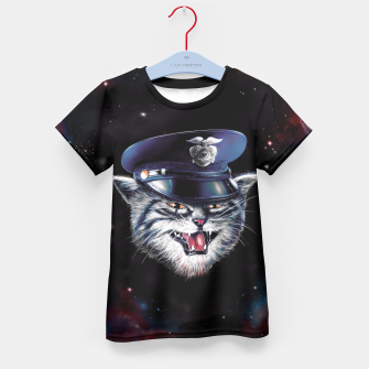 Thumbnail image of Police Cat Kid's T-shirt, Live Heroes