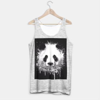 Thumbnail image of Cute Black & White Watercolor Panda  Tank Top regular, Live Heroes