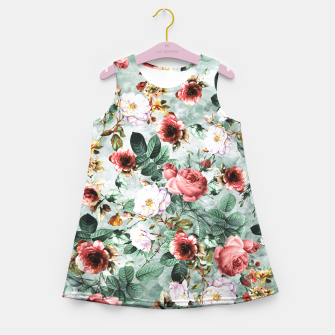 Thumbnail image of Rpe Seamless Floral Pattern I Girl's Summer Dress, Live Heroes