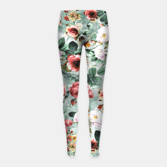 Thumbnail image of Rpe Seamless Floral Pattern I Girl's Leggings, Live Heroes