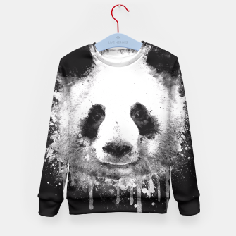 Miniature de image de Cute Black & White Watercolor Panda  Kid's Sweater, Live Heroes