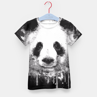 Miniature de image de Cute Black & White Watercolor Panda  Kid's T-shirt, Live Heroes