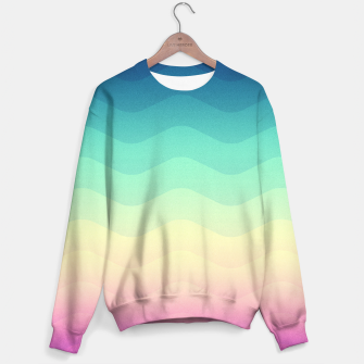 Miniature de image de Abstract Geometric  Candy / Rainbow Waves Pattern (Multi Color) Sweater, Live Heroes