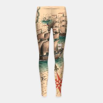 Thumbnail image of Atlantique Sud Leggings de fille, Live Heroes