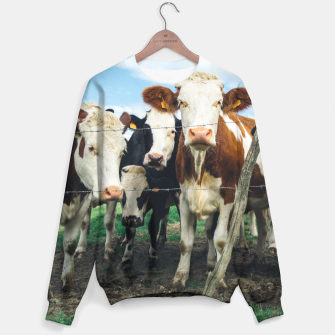 Miniatur Group Of Cows Sweater, Live Heroes