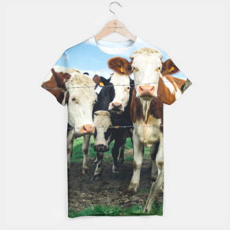 Miniatur Group Of Cows T-shirt, Live Heroes