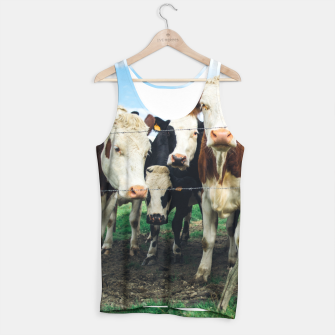 Miniatur Group Of Cows Tank Top, Live Heroes