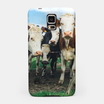 Miniatur Group Of Cows Samsung Case, Live Heroes