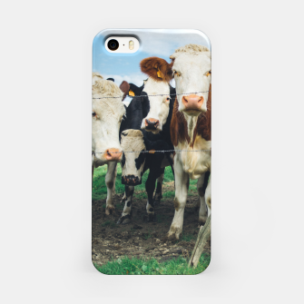 Miniatur Group Of Cows iPhone Case, Live Heroes