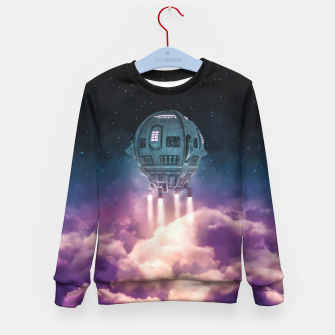 Thumbnail image of Out of the Atmosphere Kid's Sweater, Live Heroes