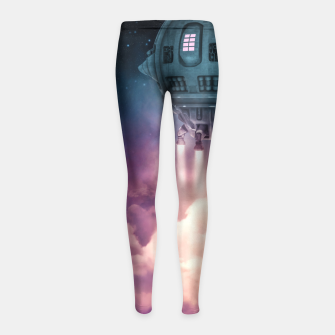 Miniature de image de Out of the Atmosphere Girl's Leggings, Live Heroes