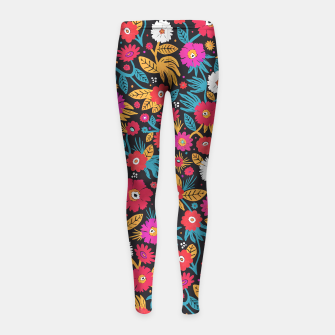 Miniature de image de Girls flowers leggings by Veronique de Jong, Live Heroes