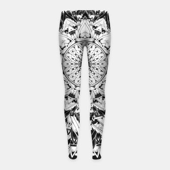 Thumbnail image of Gothic Mandala Girl's Leggings, Live Heroes