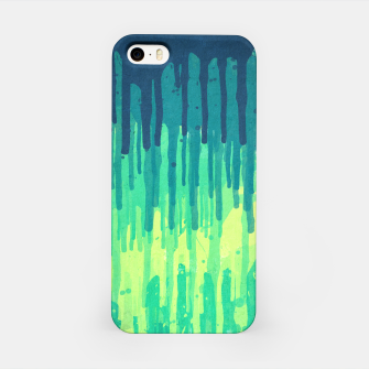 Miniature de image de Green Grunge Color Splatter Graffiti Backstreet Wall Background  iPhone Case, Live Heroes