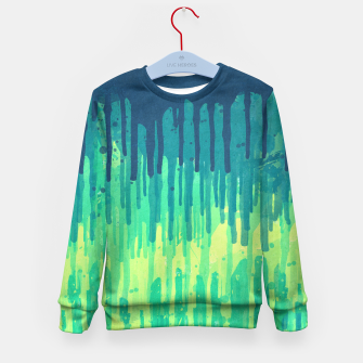 Miniature de image de Green Grunge Color Splatter Graffiti Backstreet Wall Background  Kid's Sweater, Live Heroes
