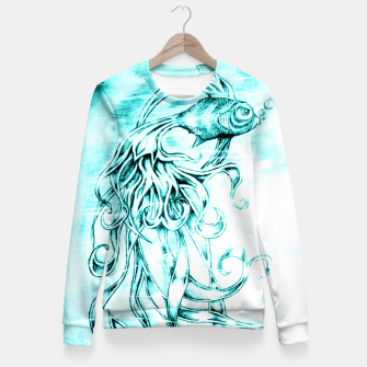 Fighter Fish Fitted Waist Sweater imagen en miniatura
