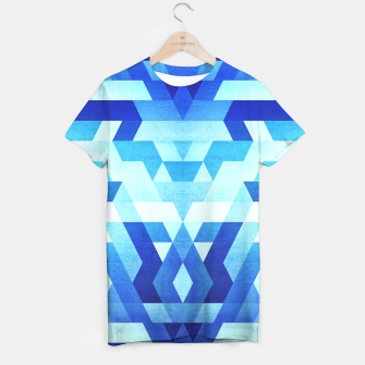 Miniature de image de DesignAbstract Symertric geometric triangle texture pattern design in ice blue  T-shirt, Live Heroes