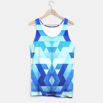 Miniature de image de DesignAbstract Symertric geometric triangle texture pattern design in ice blue  Tank Top, Live Heroes