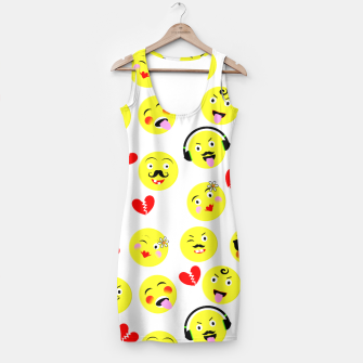 Thumbnail image of Fun Emoji Guys Fashion Trend Simple Dress, Live Heroes