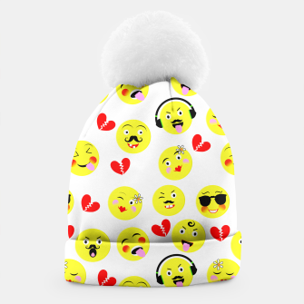 Thumbnail image of Fun Emoji Guys Fashion Trend Beanie, Live Heroes